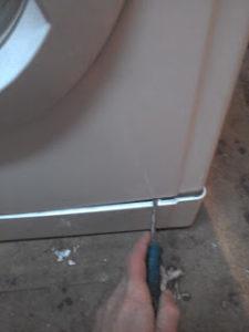 Снимаем панель стиральной машины