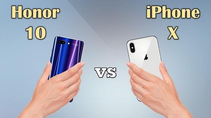 iphone x vs honor 10