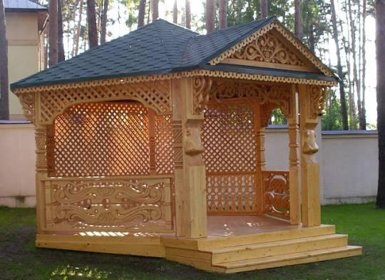 Беседки из дерева — декорирование деревянной решеткой ...