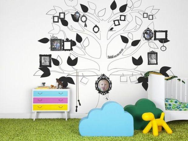 Оформление детской комнаты, генеалогическое дерево