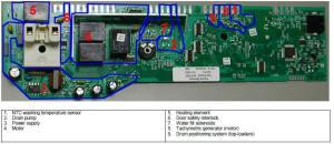 AEG Electrolux washing machine wiring diagram service