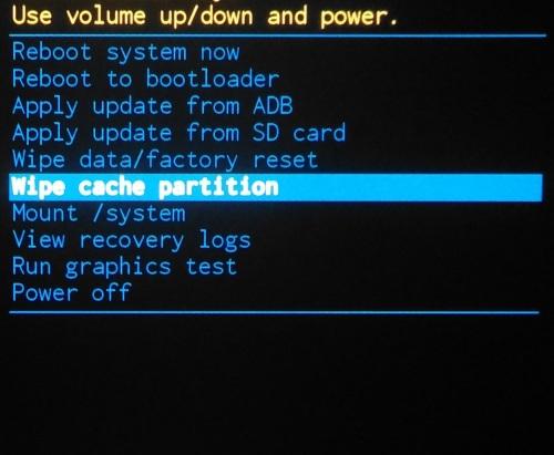 Tør cache partition.