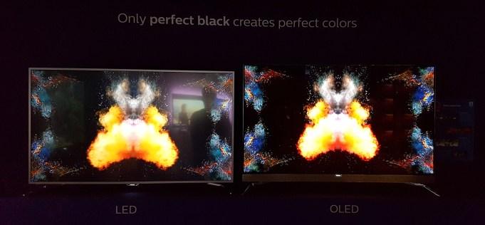Primerjava prikaza zaslonov OLED in LCD ni bila čisto poštena, ker levi televizor sodi v srednji razred.