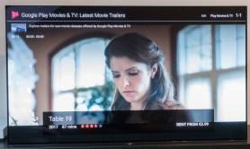 Bolj malo pa gledalcu pomaga, da ga tipka TV na daljincu vrže v Google Play Movies.