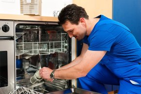 Замена уплотнителя посудомойки