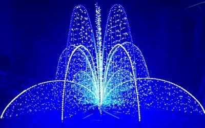 Светодиодные фонтаны. Виды и работа. Плюсы и минусы. Применение