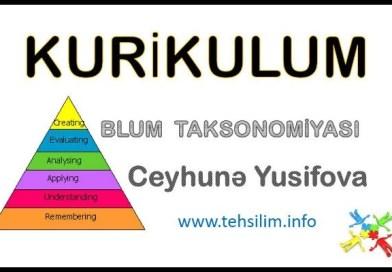 KURIKULUM – Blum Taksonomiyası. Ceyhunə Yusifova