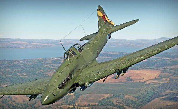 Военный самолет ИЛ-10