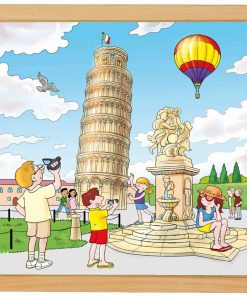 European cities puzzle: Pisa - Educo