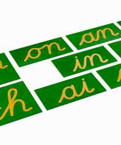 Double Sandpaper Letters: French Cursive - Nienhuis Montessori