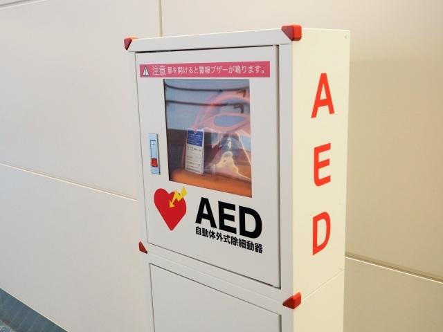 警備員3点セットの上級救命講習で使用するAED.