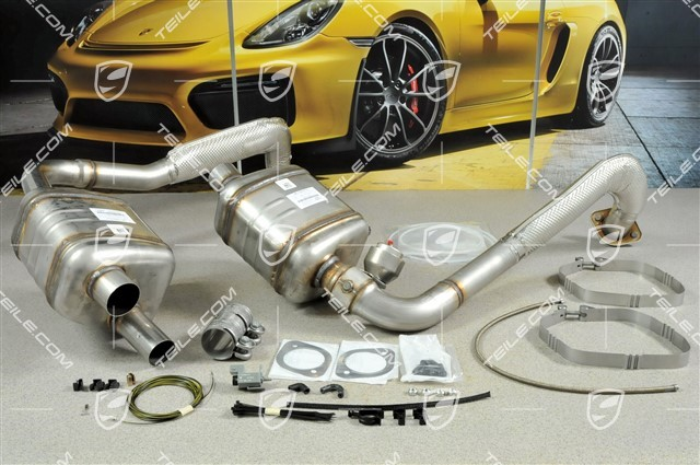 teile com exhaust system sport version new cayman 982 718 202 04 sports exhaust system 98204420100