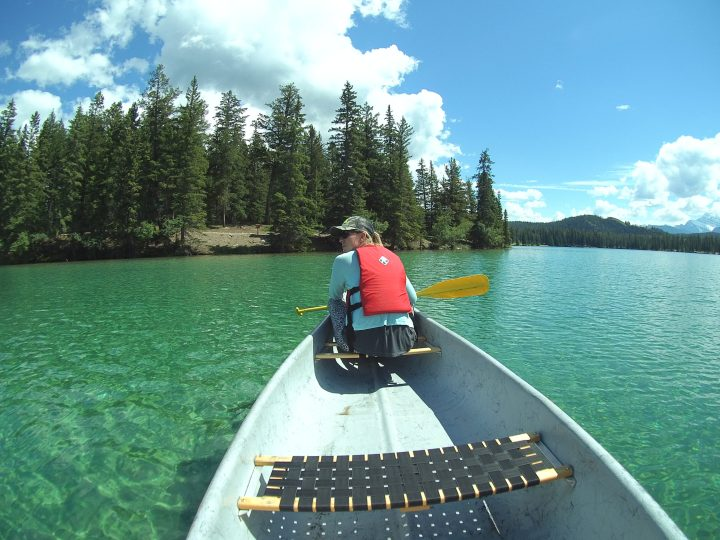 Kayaking Fairmont Hotel Jasper