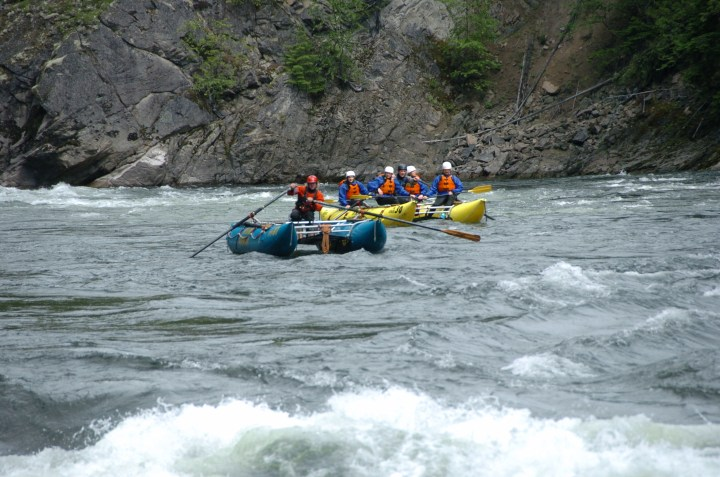 Rafting Boat and Safety Boat Clearwater River