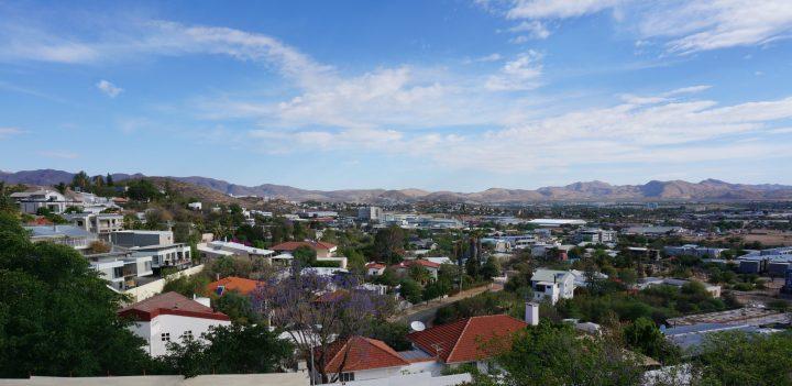 Windhoek von oben - Ausblick von der Heinitzburg