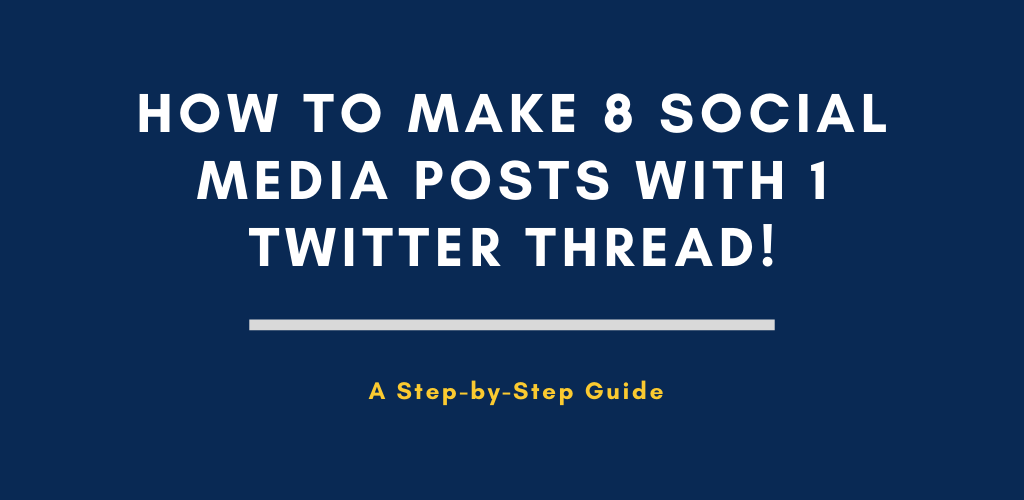 8 social media posts with 1 tweet