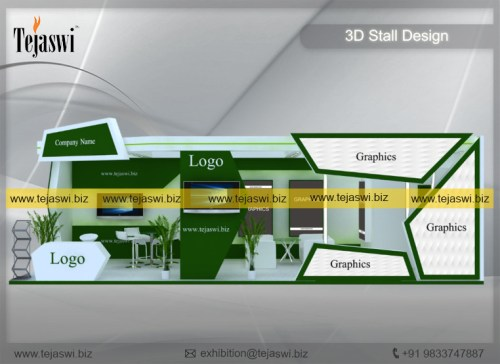 10 Meter x 4 Meter Trade Show Stand Construction