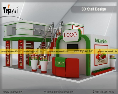 9 Meter x 6 Meter Food Mezzanine Exhibition Stand Construction EC-964S-1