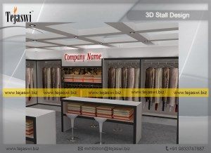 64 Square Meter Garment Apparel Exhibition Stand Design EC-882S-2