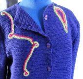 bordar jersey tejido a ganchillo