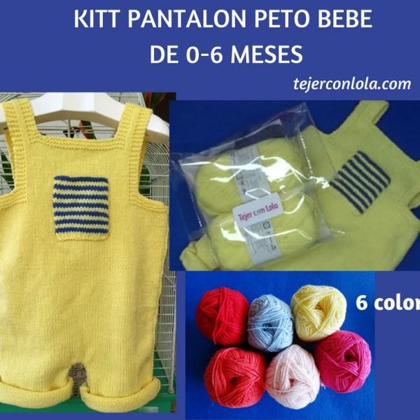 pantalón bebe 0-3 meses dos agujas (fácil)