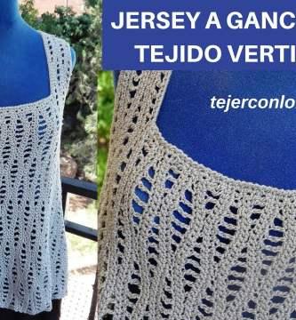 jersey ganchillo tejido vertical cualquier talla