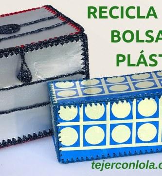 """RECICLA TEJIENDO PUNTO BAJO """" BRIKS Y BOLSAS DE PLASTICO"""""""