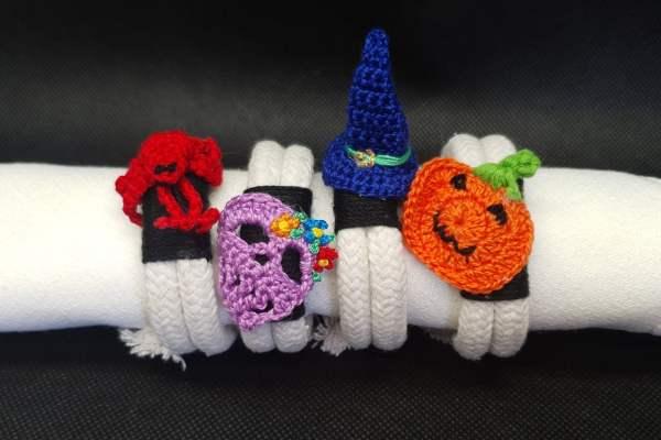 Set de 4 servilleteros de Halloween