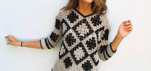 Blusa Crochet granny simple