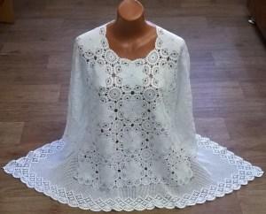 Blusa crochet novedoso estilo con motivo