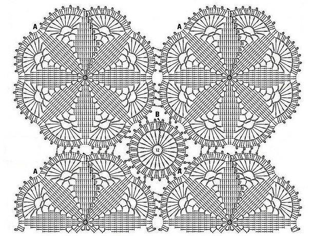 Blusa crochet novedoso estilo con motivo1