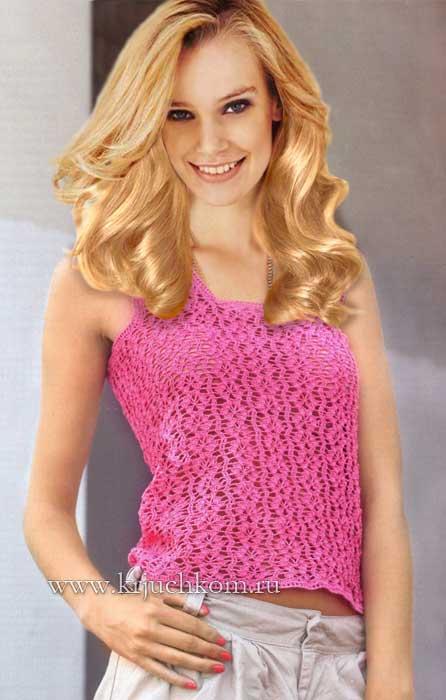 Blusa crochet sin mangas esquemas