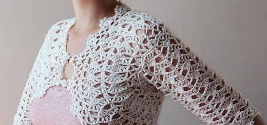 Bolero de crochet con estilo