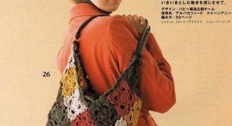 Bolso crochet tenida informal