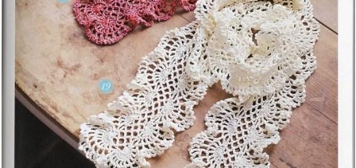 Bufanda en crochet muy elegante