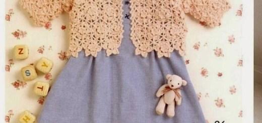Chaleco niña crochet esquema