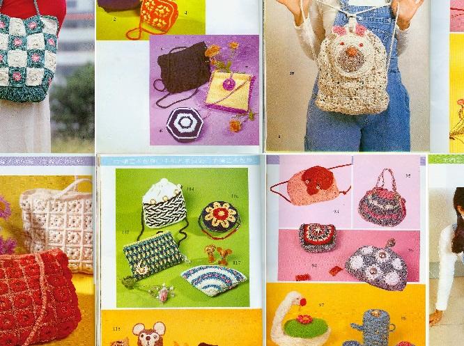 Colección de bolsos al crochet con patrones