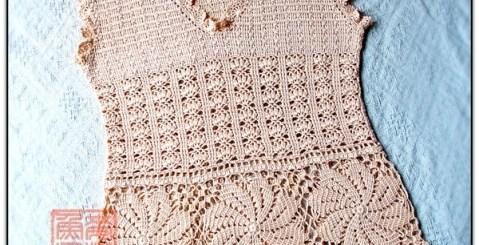 Esquema Blusa en crochet con puntada y motivo
