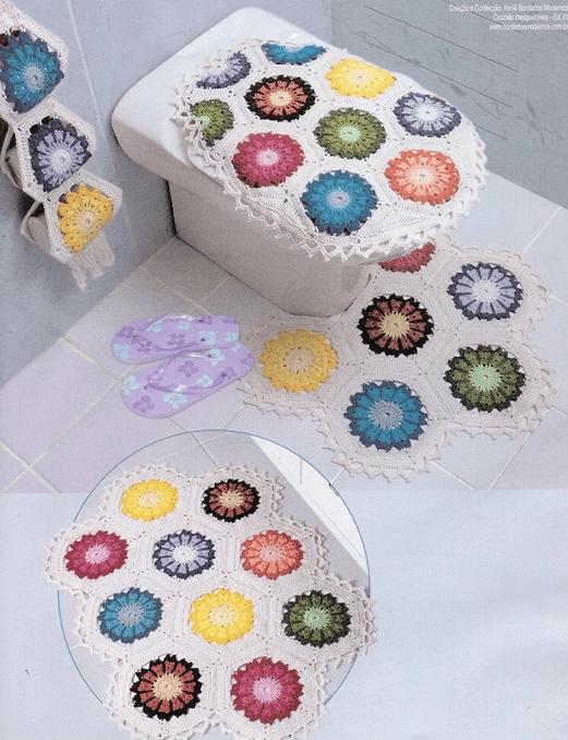Esquema juego de baños crochet