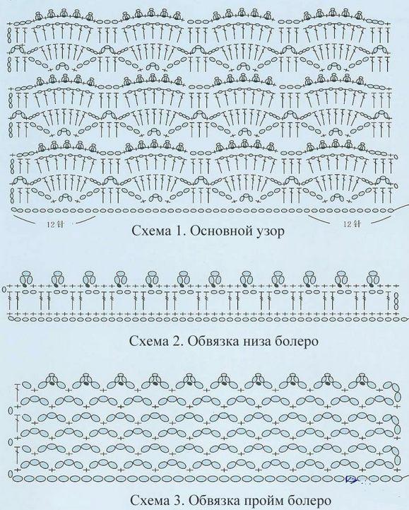 Patrón Bolero de crochet en una pieza1