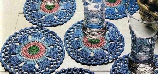 Patrón Posavasos finos en crochet