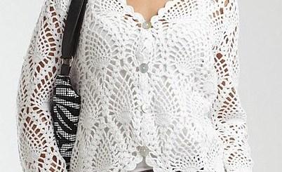 Saco de crochet puntada piña