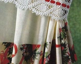 Toma cortinas crochet patrón