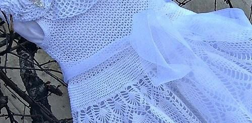 Vestido niña crochet graduación