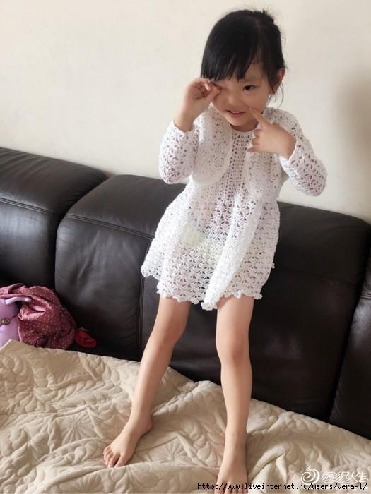 Vestido y bolero crochet para niñas