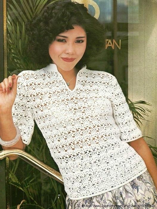 Blusa crochet sencilla con patrones