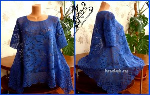 Blusa increíble ganchillo filet