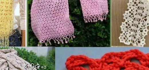 Bufandas y estolas con patrones