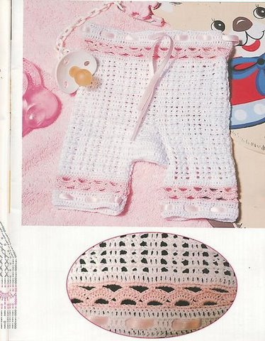 Calza para bebe en crochet con esquemas
