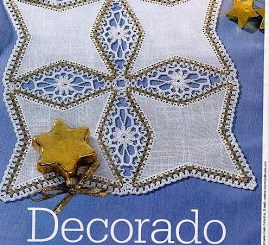 Decoración crochet para manteles y servilletas